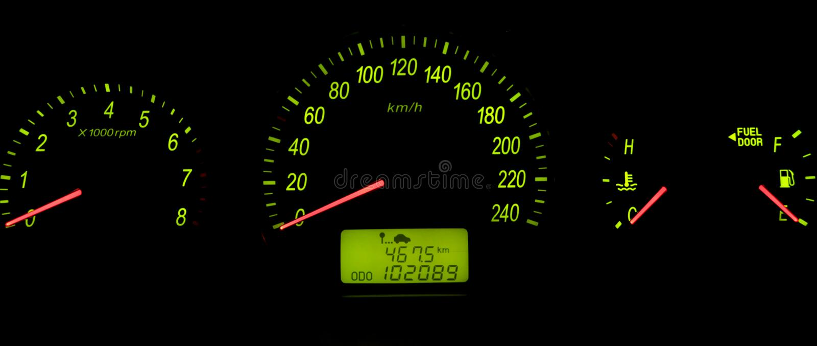 Car speedometer royalty free stock photography
