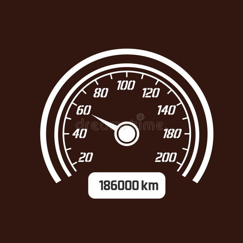 Speedo or speed dial stock vector. Illustration of auto ...