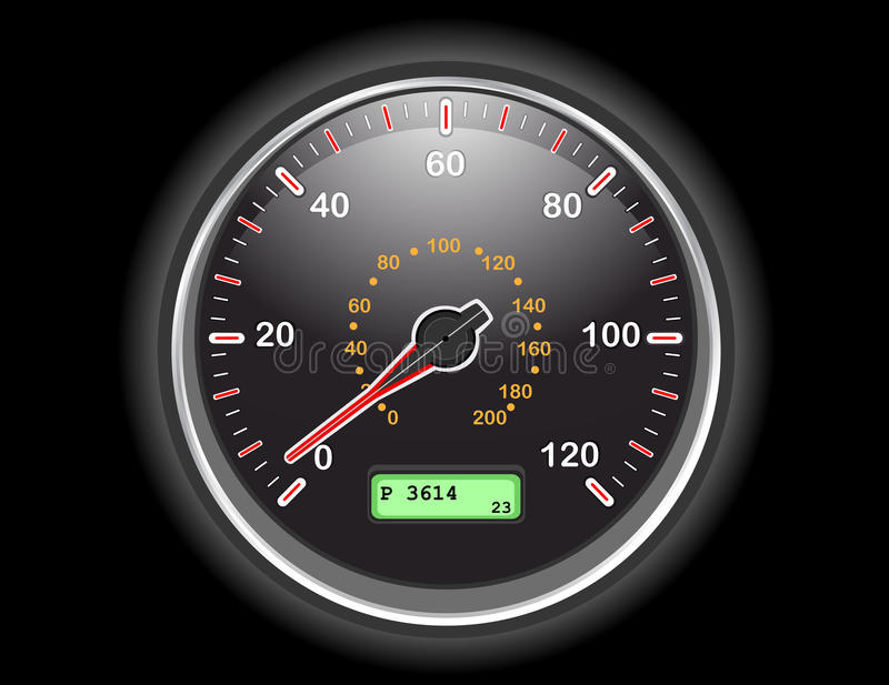 Download Car speedometer dial stock vector. Illustration of dashboard - 14433813