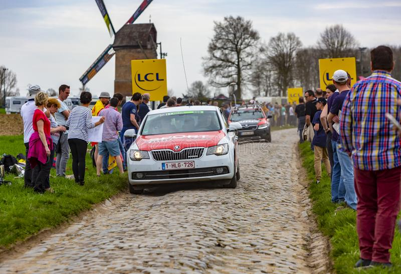 The Car of Sport Wieler Magazine - Paris-Roubaix 2018 stock photos