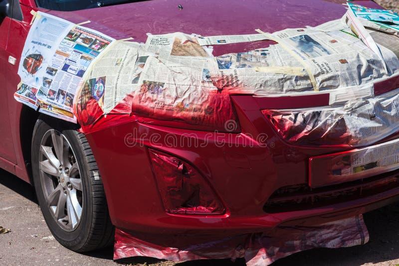 Car Spray Paint Repair Editorial Photography