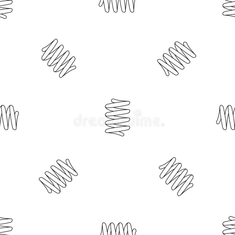 Car spring coil pattern seamless vector. Repeat geometric for any web design stock illustration