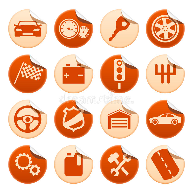 Download Car stickers stock vector. Image of illustration, auto - 14869018