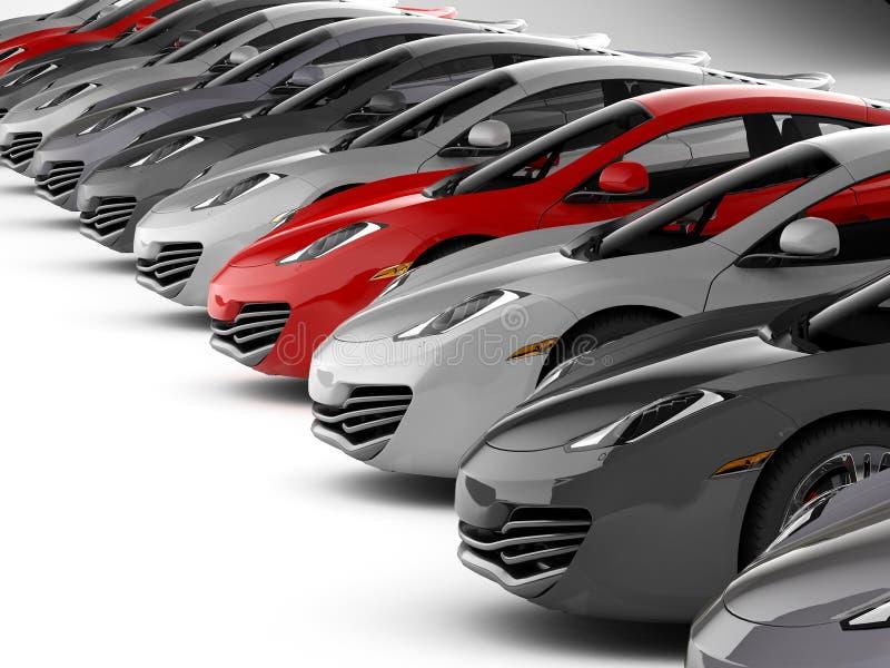 Car stock dealer vector illustration