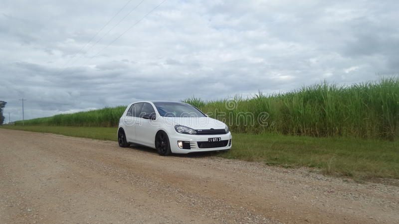 A Shot Of My Gti Golf Sitting At The Same Height As The Sugar Cane Fields