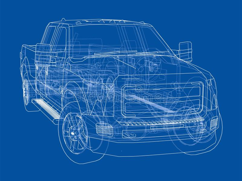 Car suv drawing outline stock illustration illustration of draft car suv drawing outline 3d illustration sketch or blueprint malvernweather Choice Image