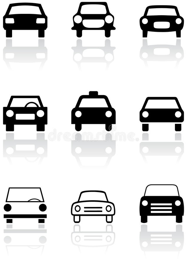 Car symbol vector set. royalty free illustration