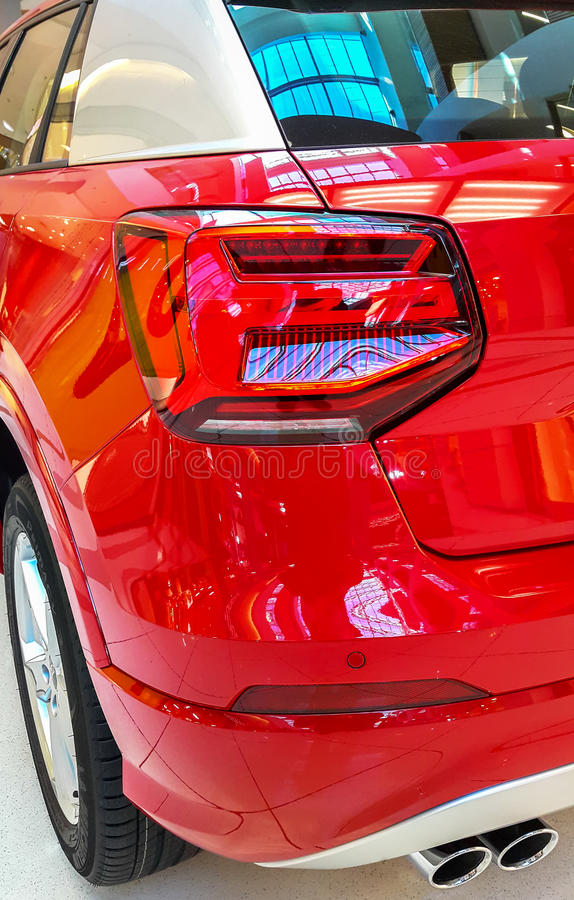Car taillight or taillamp is a some of car. royalty free stock image