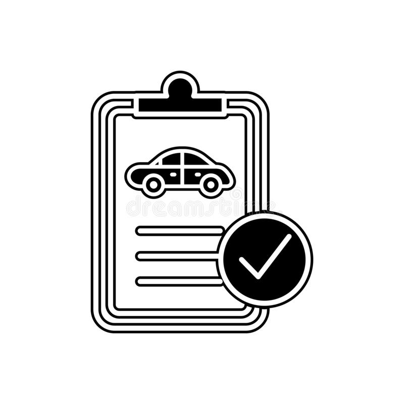 car technical document icon. Element of Cars service and repair parts for mobile concept and web apps icon. Glyph, flat line icon vector illustration