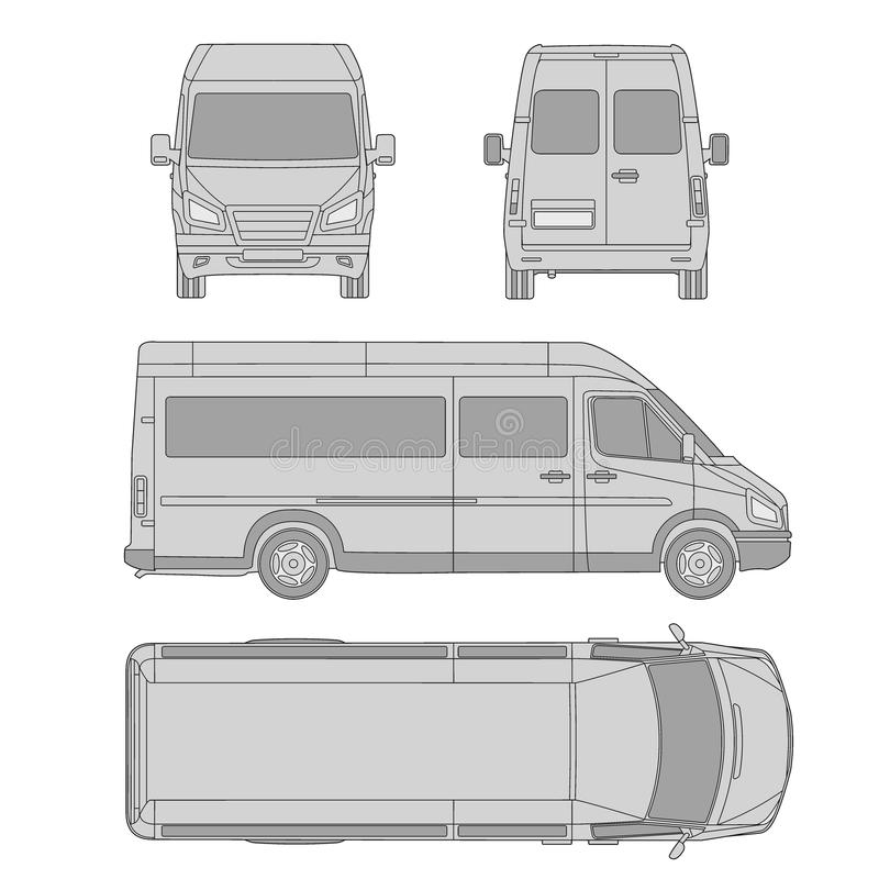 Car template commercial vehicle delivery van blueprint drawing download car template commercial vehicle delivery van blueprint drawing proection malvernweather Image collections
