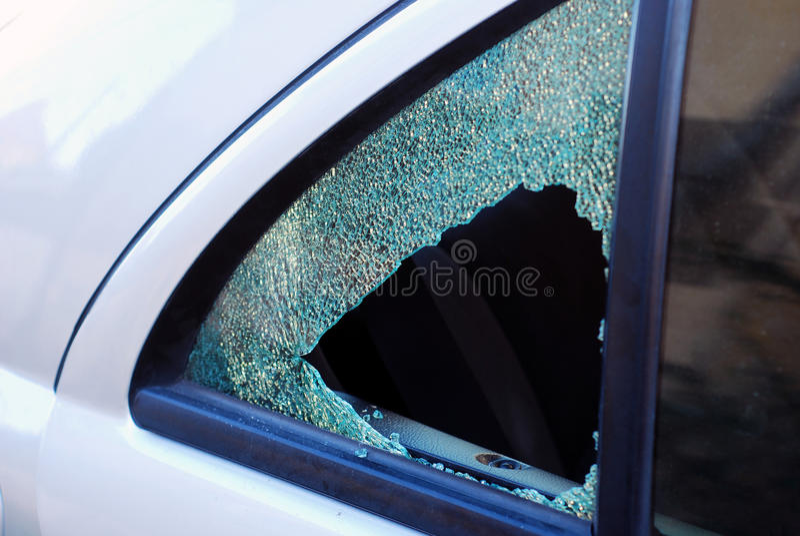 Car theft stock image