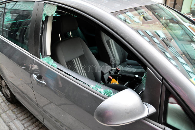 Car theft royalty free stock image