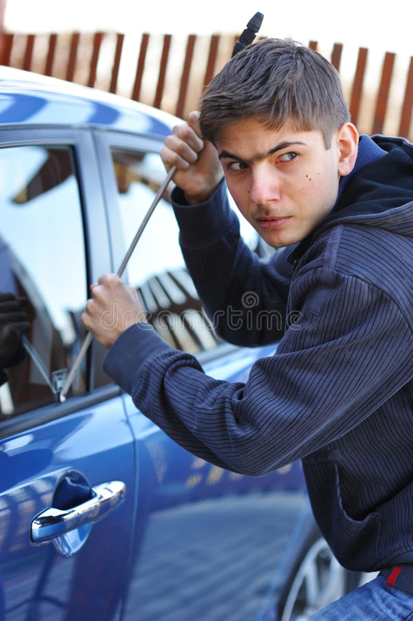Download Car thief stock photo. Image of social, burglary, evil - 10793342