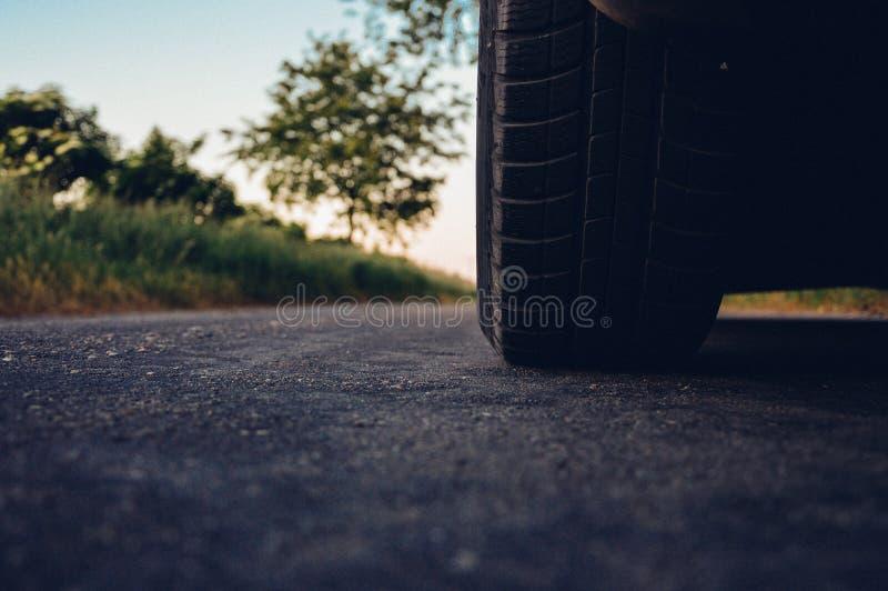 Car Tire On Asphalt Free Public Domain Cc0 Image
