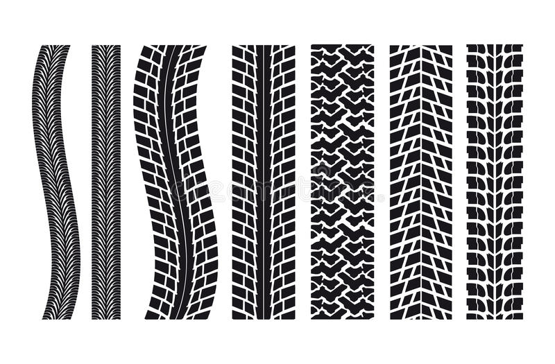 Car Tire Imprints Royalty Free Stock Photos