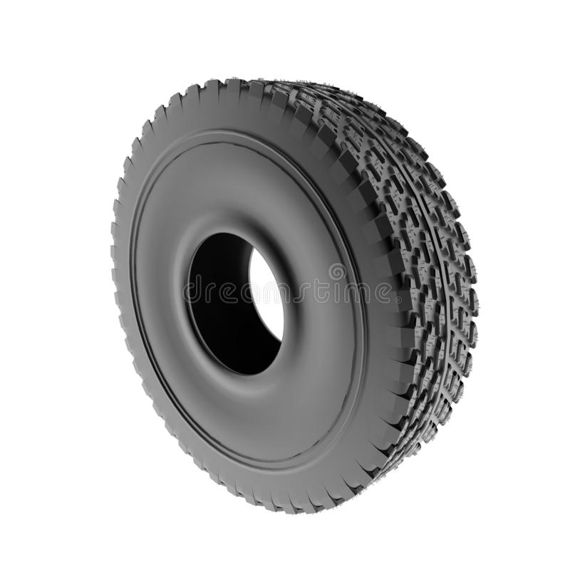 Car tire. Isolation on a white background stock illustration