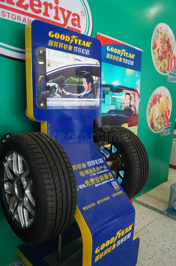 Car tire sales advertising signs royalty free stock photo