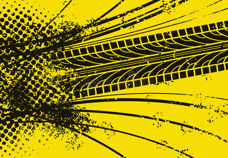 Car Tire Track royalty free illustration