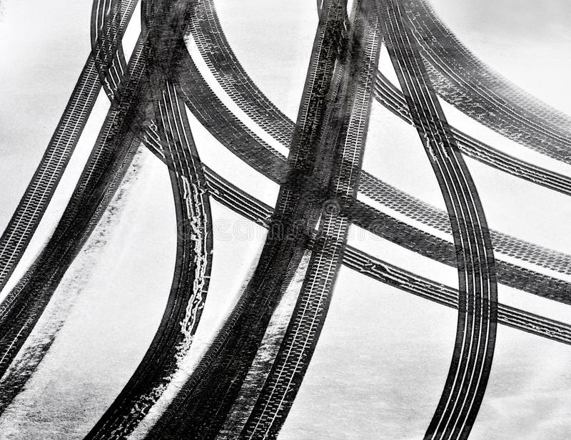 Download Car tire tracks stock photo. Image of slush, background - 23071870