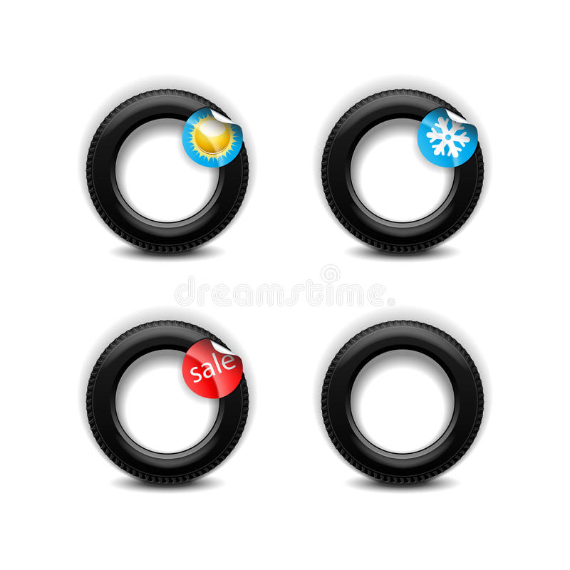 Download Car tires stock vector. Image of tire, sticker, traffic - 25641494