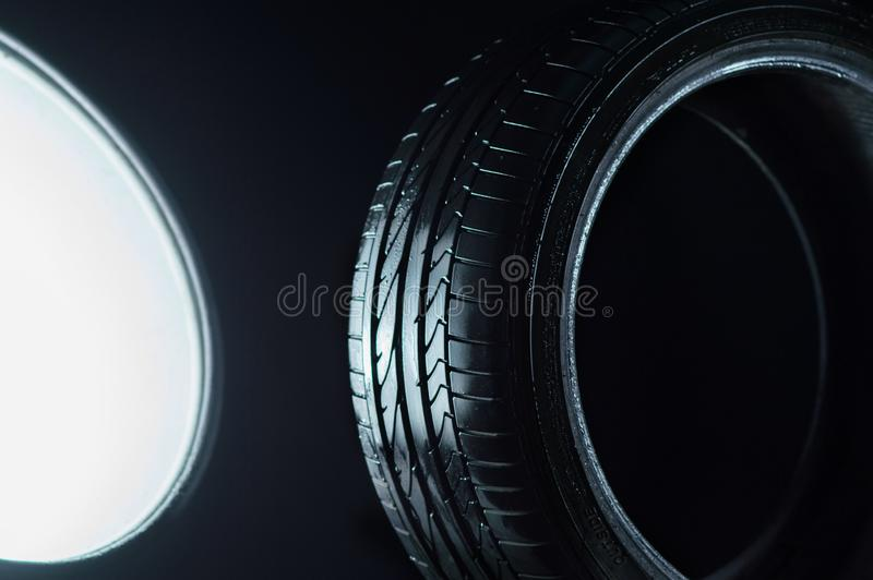 Car tires for traffic. So as not to damage the road surface stock images