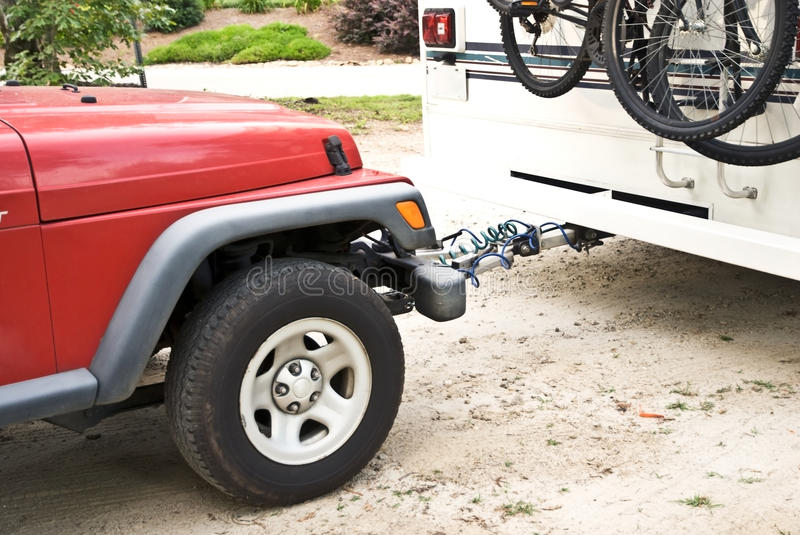 Download Car In-Tow Behind Camper stock photo. Image of ride, pull - 9847476