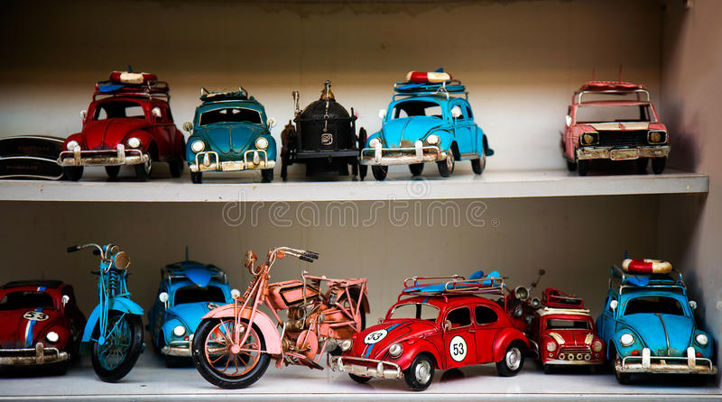 Car Toys. Colorful and sweet old stock photography