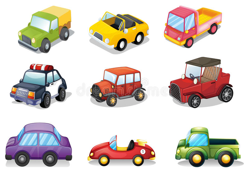 Toy Car Clip Art : Car toys stock vector illustration of background