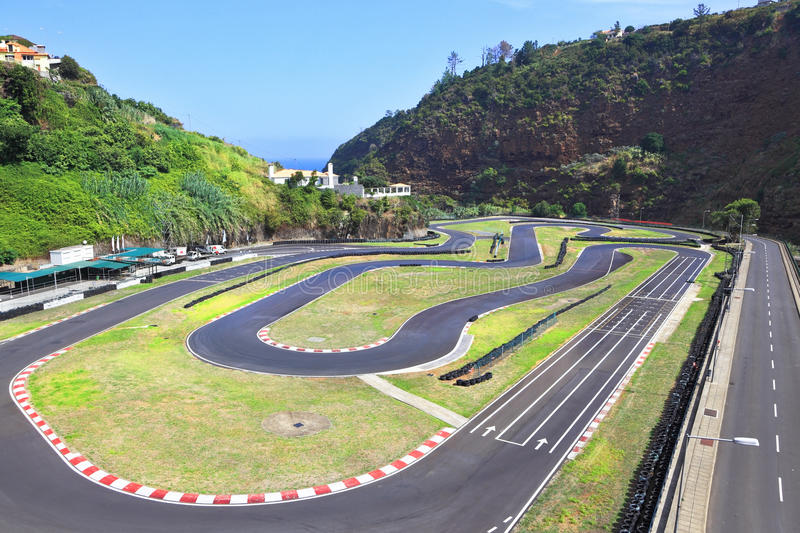 Car track in the island of Madeira. Car track in the popular resort on the Atlantic island of Madeira royalty free stock photo