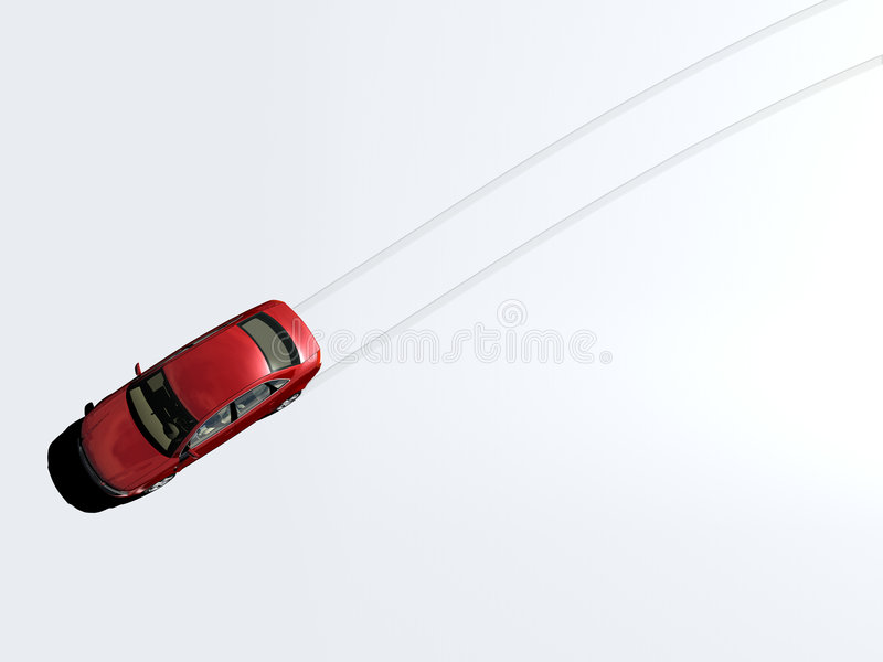 Car tracks vector illustration