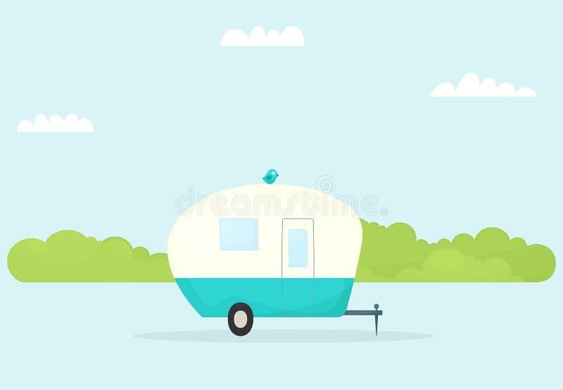 Car trailer caravan stock illustration