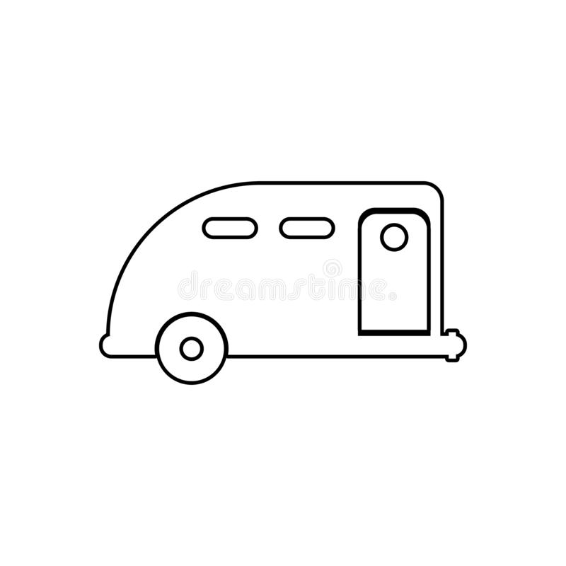 Car trailer icon. Element of transport for mobile concept and web apps icon. Outline, thin line icon for website design and. Development, app development on vector illustration