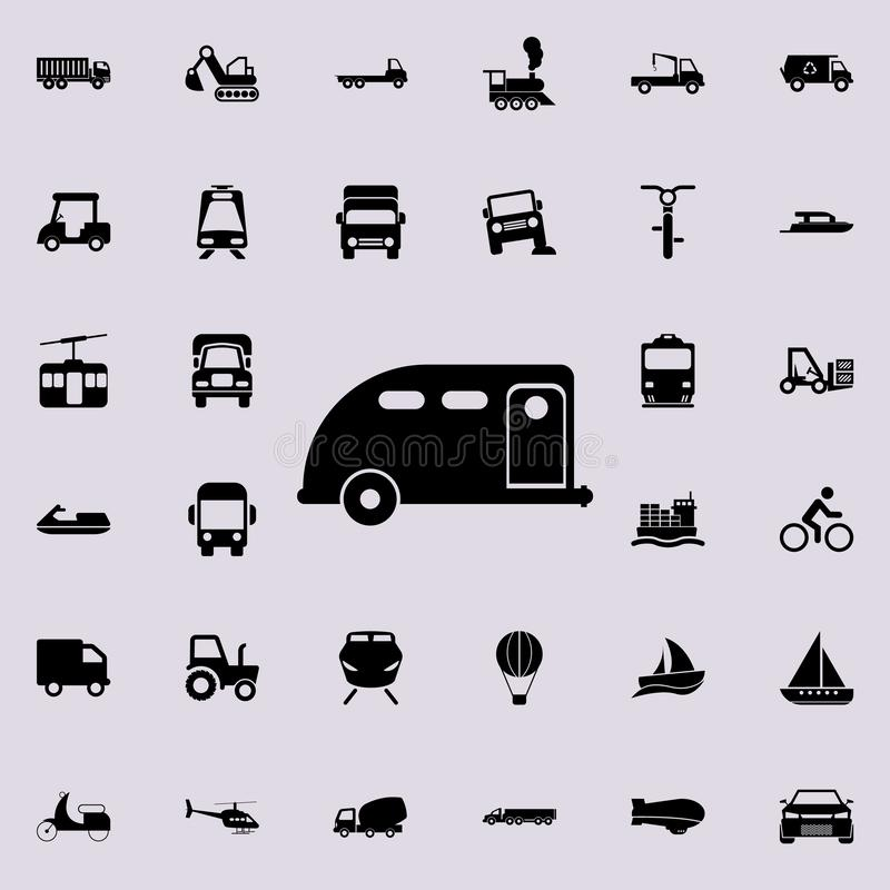 Car trailer icon. transport icons universal set for web and mobile. On colored background royalty free illustration