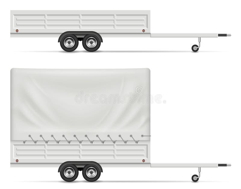 Car trailer vector illustration royalty free illustration