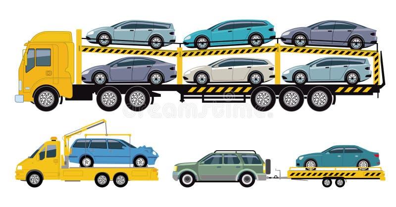 Car Transport Company, trasportatore dell'automobile illustrazione vettoriale
