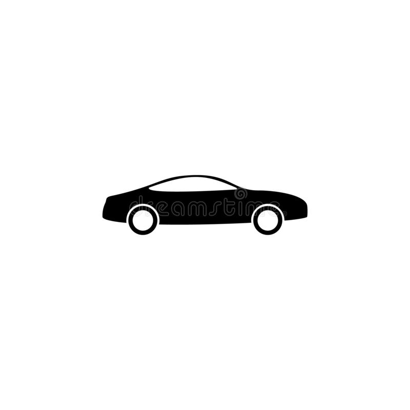Car, transport icon. Simple glyph vector of universal set icons for UI and UX, website or mobile application. On white background royalty free illustration