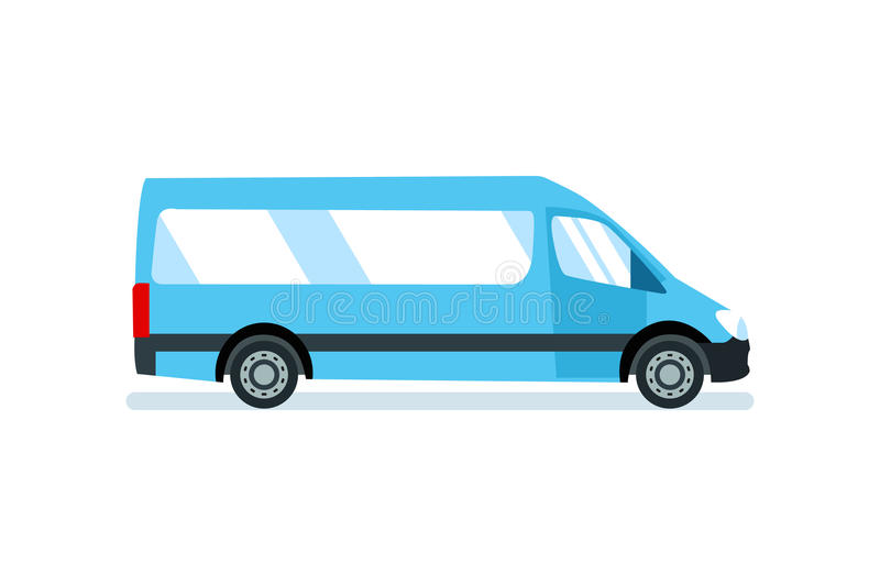 Car for the transportation of passengers, goods and materials. stock illustration