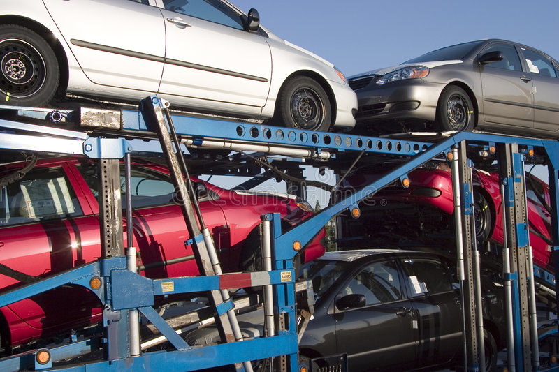 Download Car Transporter stock photo. Image of ramp, shipment, stack - 459250
