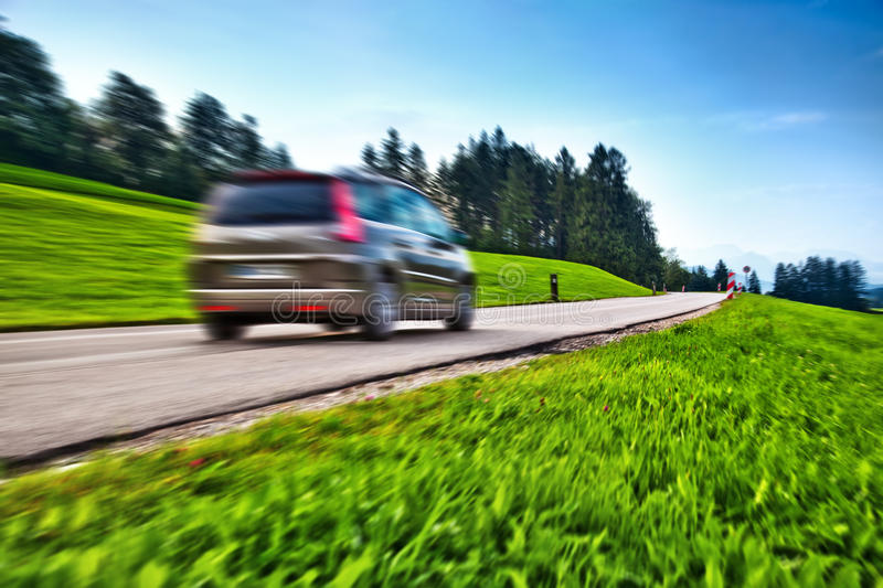Car travel. Blur motion effect royalty free stock images