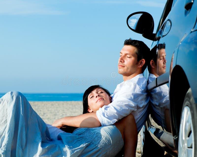 Car Travel Couple Royalty Free Stock Photos