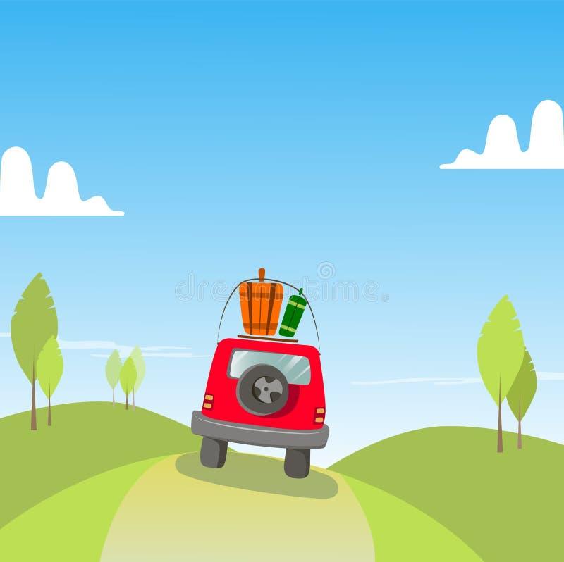 Car travel holidays royalty free stock photography
