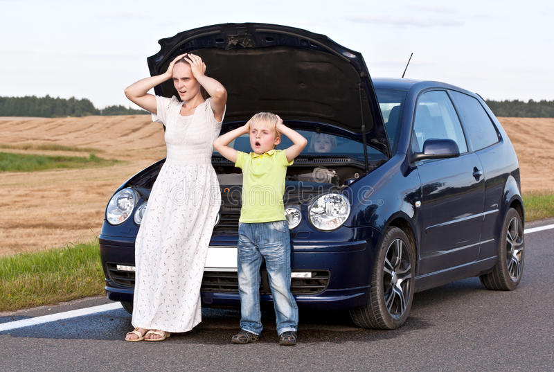 Car trouble royalty free stock image
