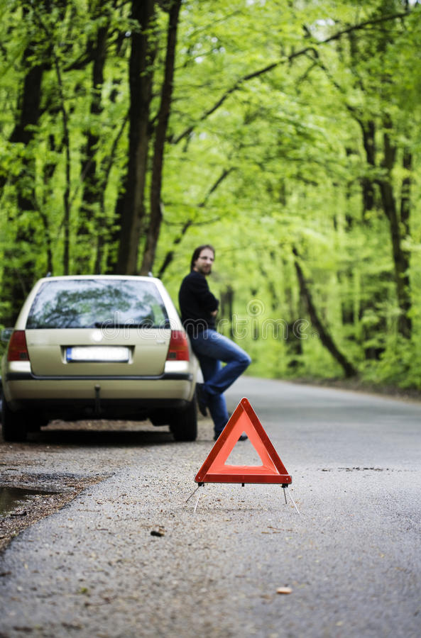 Download Car trouble stock image. Image of road, break, green - 24341541