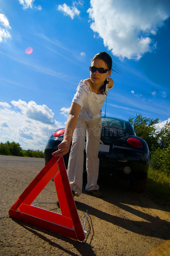 Download Car Trouble 4 stock photo. Image of assistance, caution - 1422164