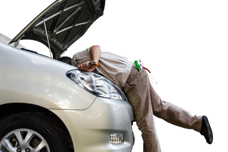 Car troubleshooting stock photography
