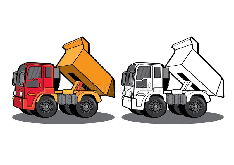 Car truck dray lorry carryall Drive Cartoon Transporting. Vector illustration graphic background black Car truck dray lorry carryall Drive Cartoon Transporting vector illustration