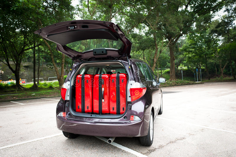 Download Car Trunk with Luggage stock image. Image of automobile - 39225459