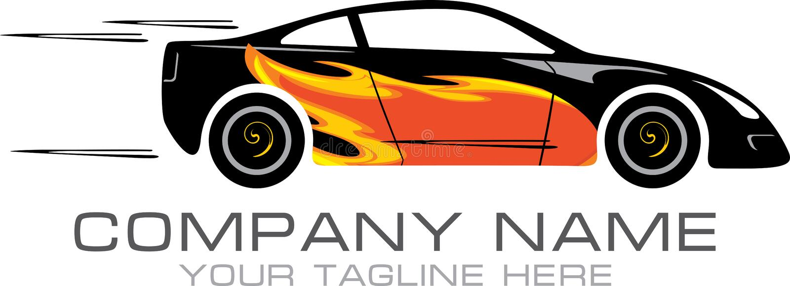 Car tuning. Sign for logo royalty free stock image