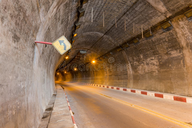 Car tunnel royalty free stock photo