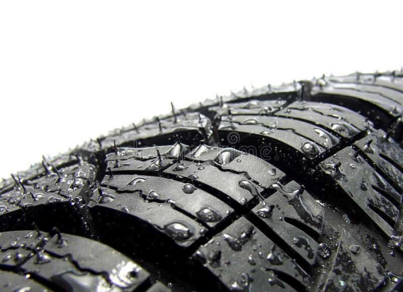 Car tyre stock image